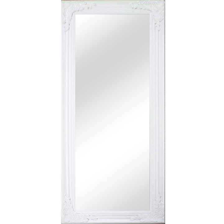 MALKIA TYP 8 Tükör elegáns fakerettel, fehér színben