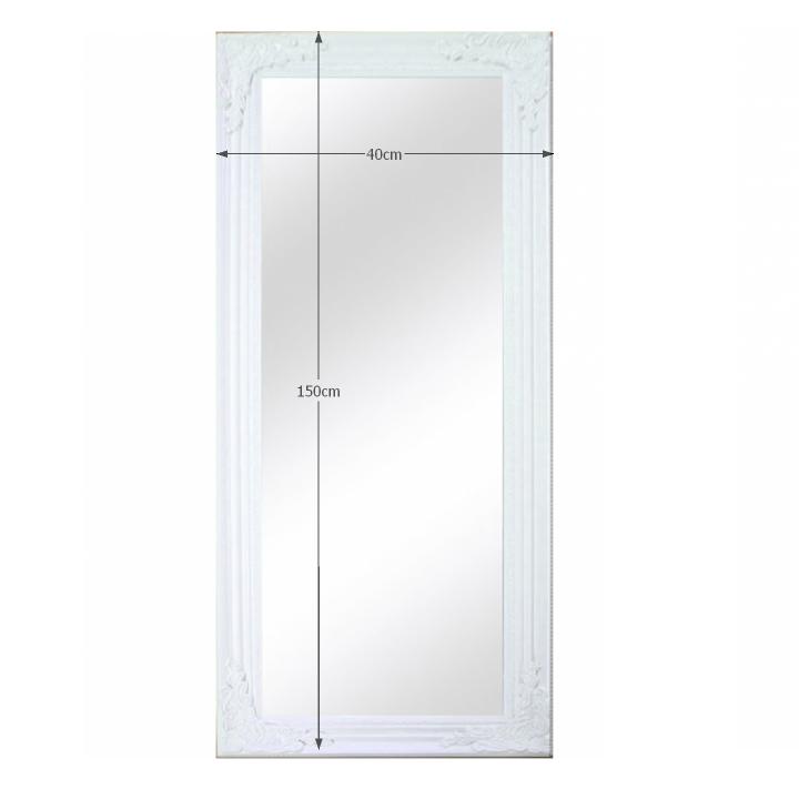 TEMPO KONDELA Zrkadlo, drevený rám bielej farby, MALKIA TYP 8 - Tempo nábytek