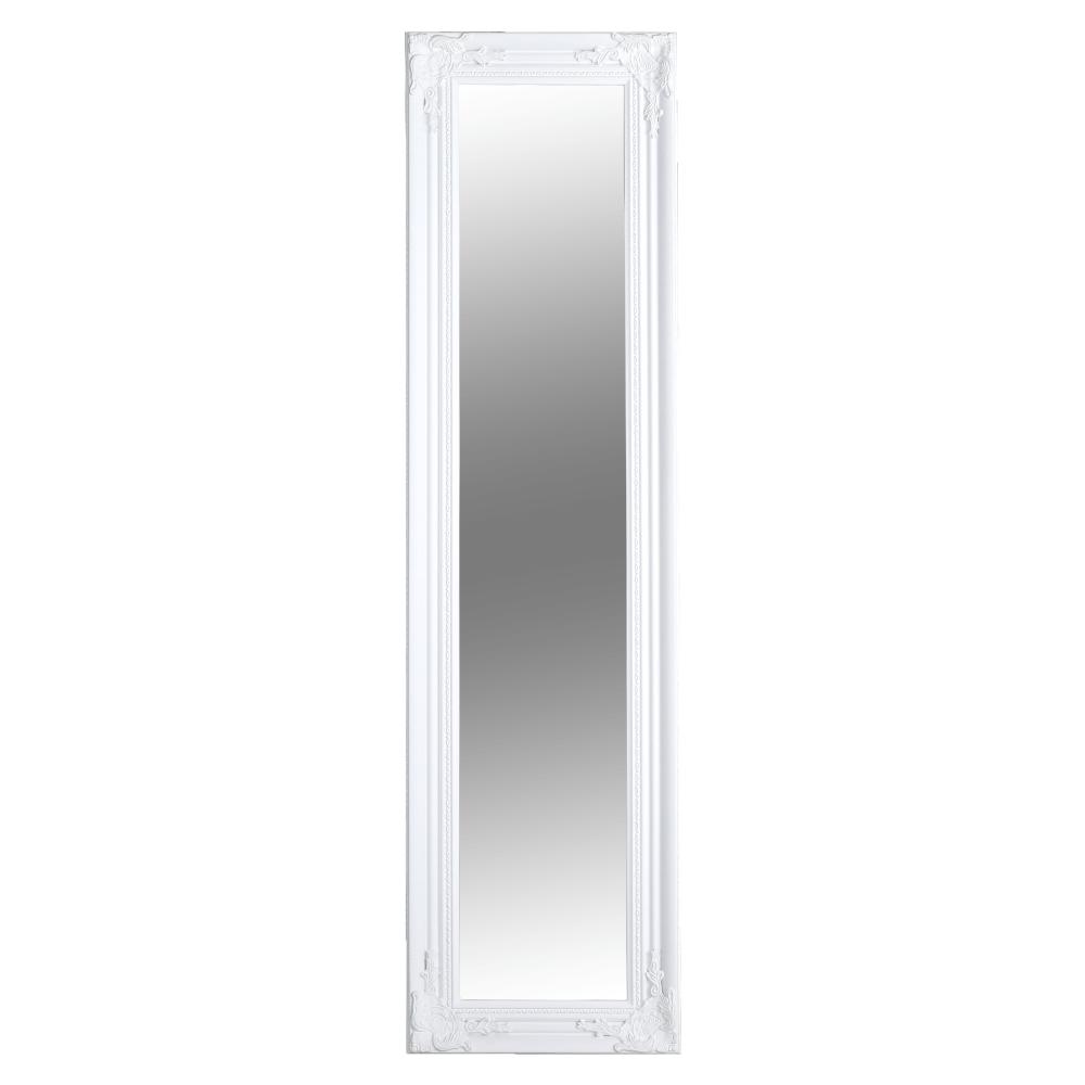 Zrcadlo, dřevěný rám bílé barvy, MALKIA TYP 8