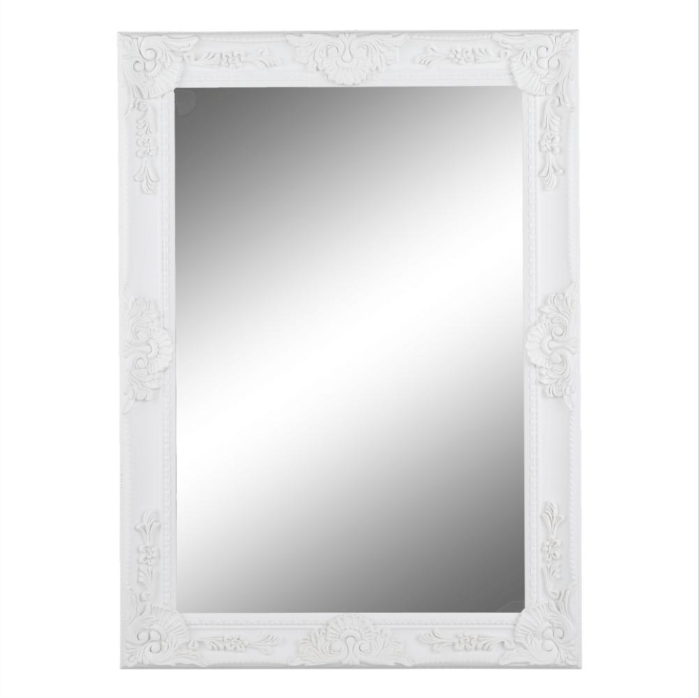 Zrkadlo, biely rám, MALKIA TYP 9