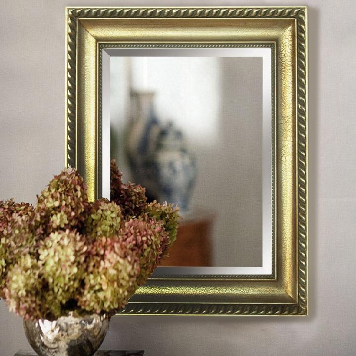 TEMPO KONDELA Zrkadlo, zlatý rám, MALKIA TYP 10 - Tempo nábytek