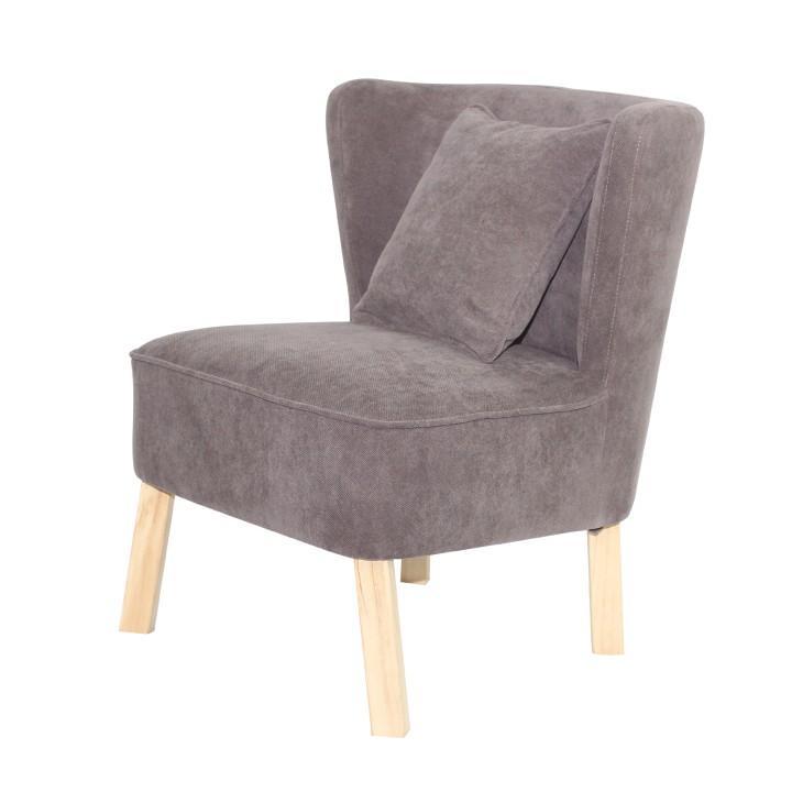 Modern fotel díszpárnával,sötétbarna textil, BIRBA New