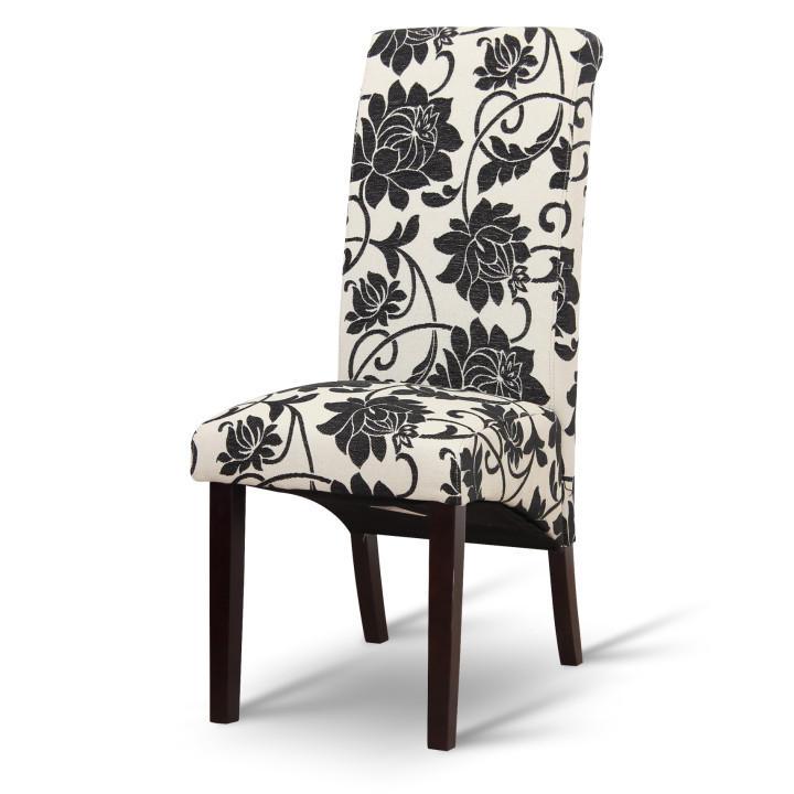 Jedálenská stolička, biela/tmavý orech, JUDY 2 NEW