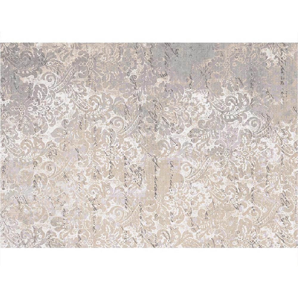 Koberec, béžový se vzorem, 120x180, BALIN