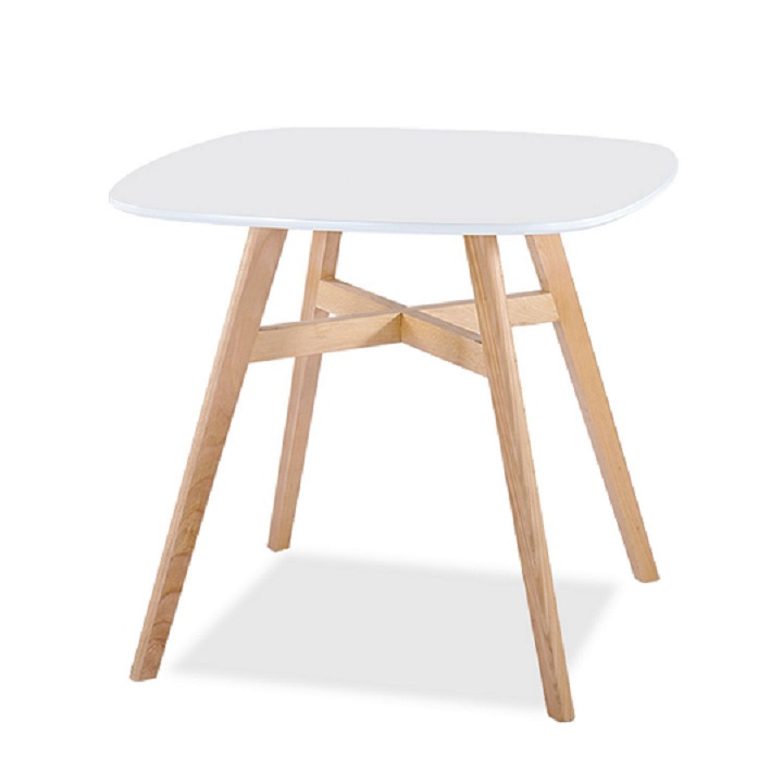DEJAN NEW Étkezőasztal, színek : fehér / természetes fa.