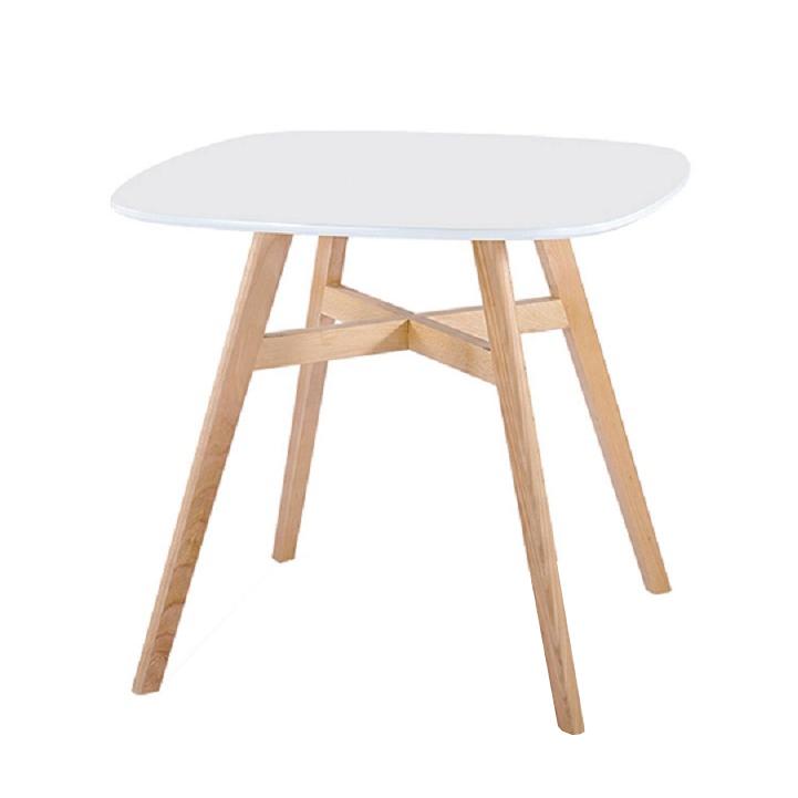Tempo Kondela Jedálenský stôl, biela/prírodná, DEJAN NEW