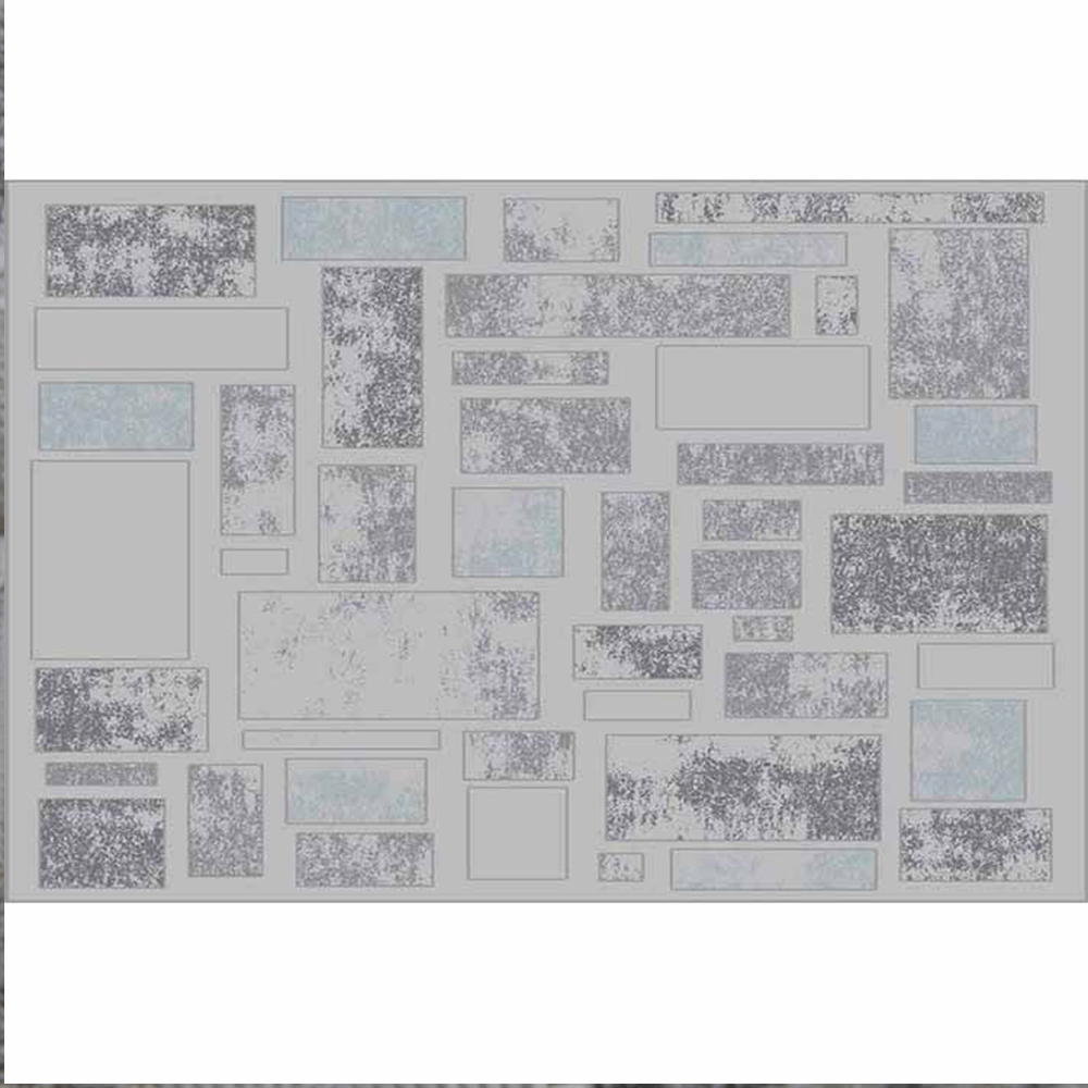 Covor 67x120 cm, gri deschis/gri închis, HEATHER