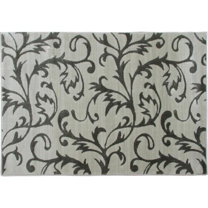 Koberec, krémová/sivý vzor, 57x90, GABBY