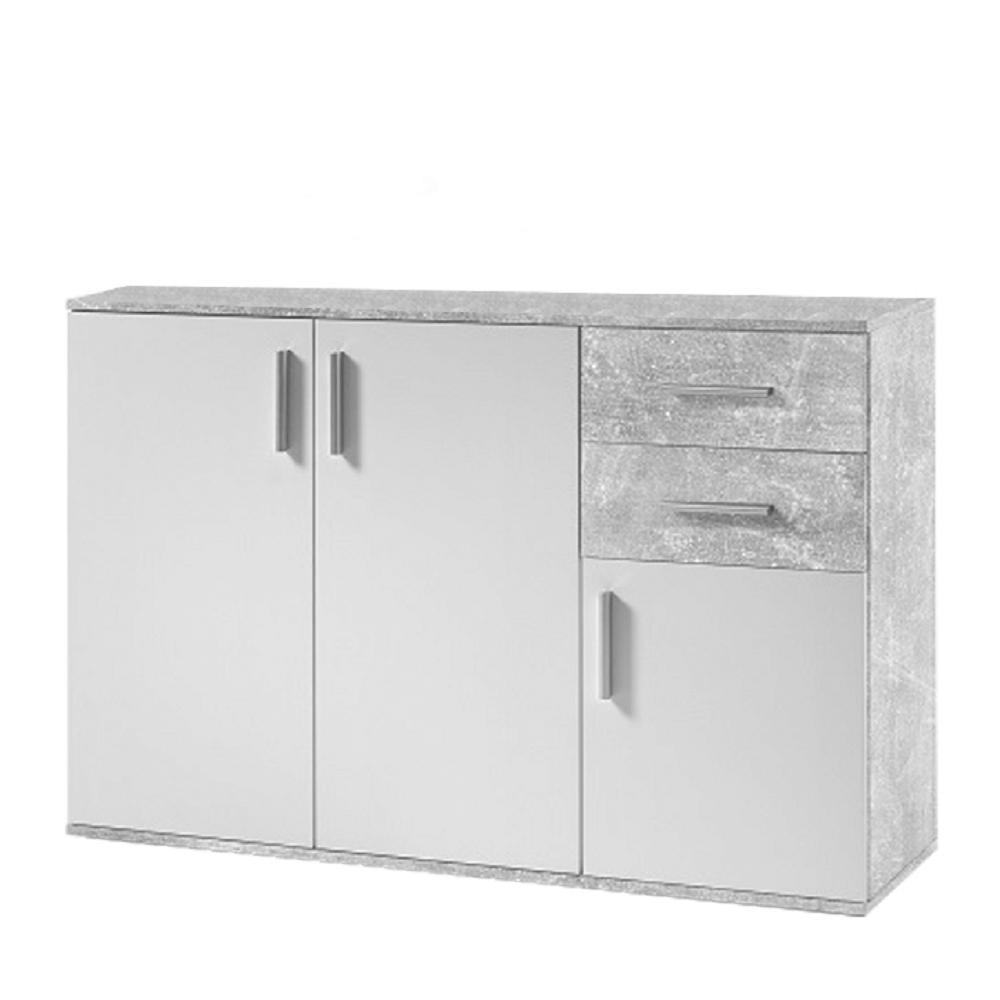Comodă, alb/ciment, POPPY 2