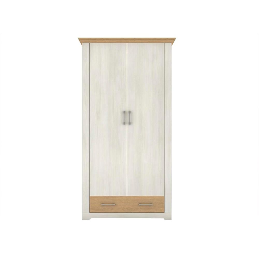 Dulap cu două uși și sertar, pin nordic/stejar piatră, ARMOND TYP 2