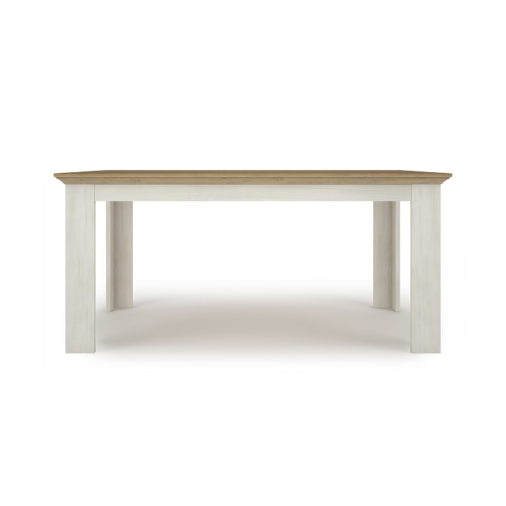 Jedálenský stôl, rozkladací, sosna nordická/dub kamenný, ARMOND TYP 15