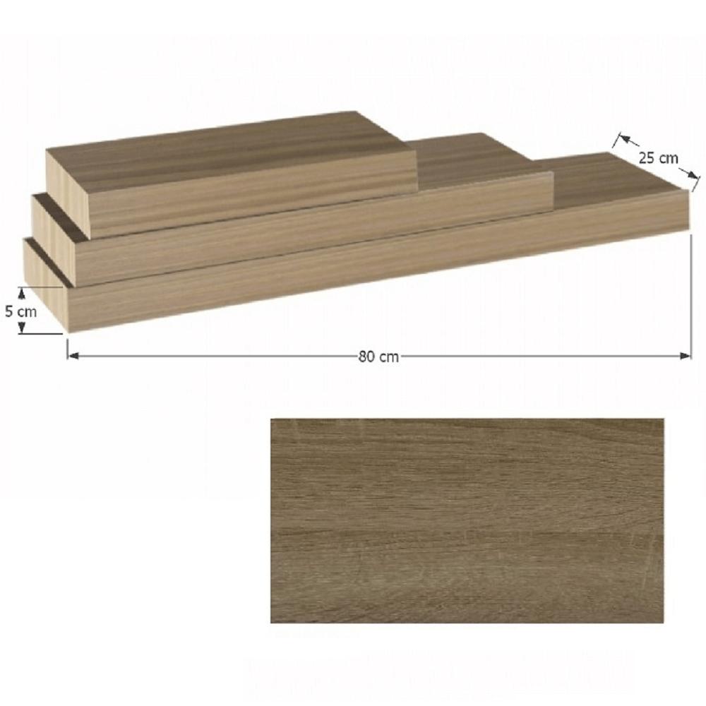 Polcok, homok tölgyfa, 80x25, GANA