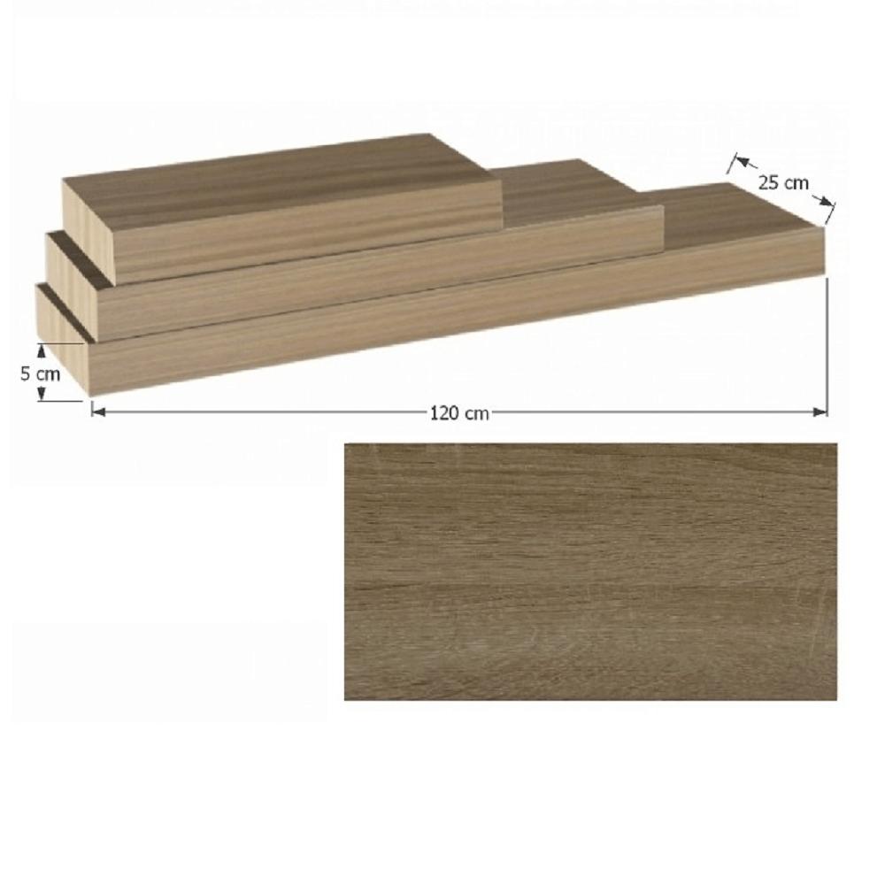 Polcok, homok tölgyfa, 120x25, GANA