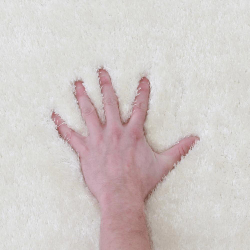 Szőnyeg, hófehér, 80x150, AMIDA