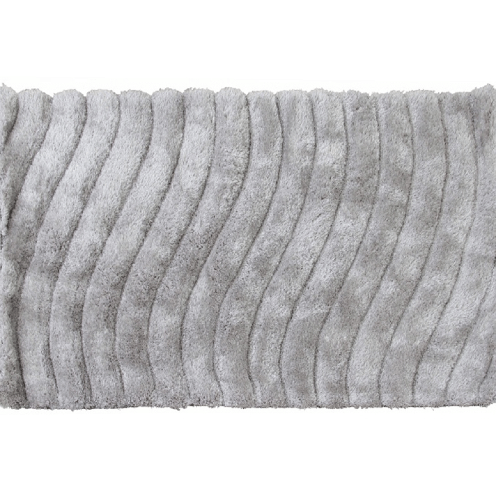 Koberec, bielosivá, 140x200, SELMA