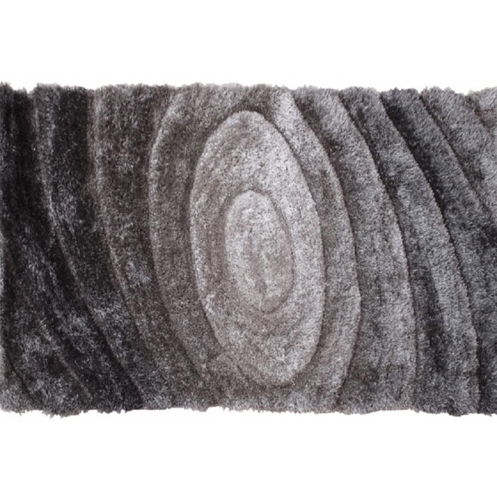 Koberec, sivý, vzor, 170x240, VANJA