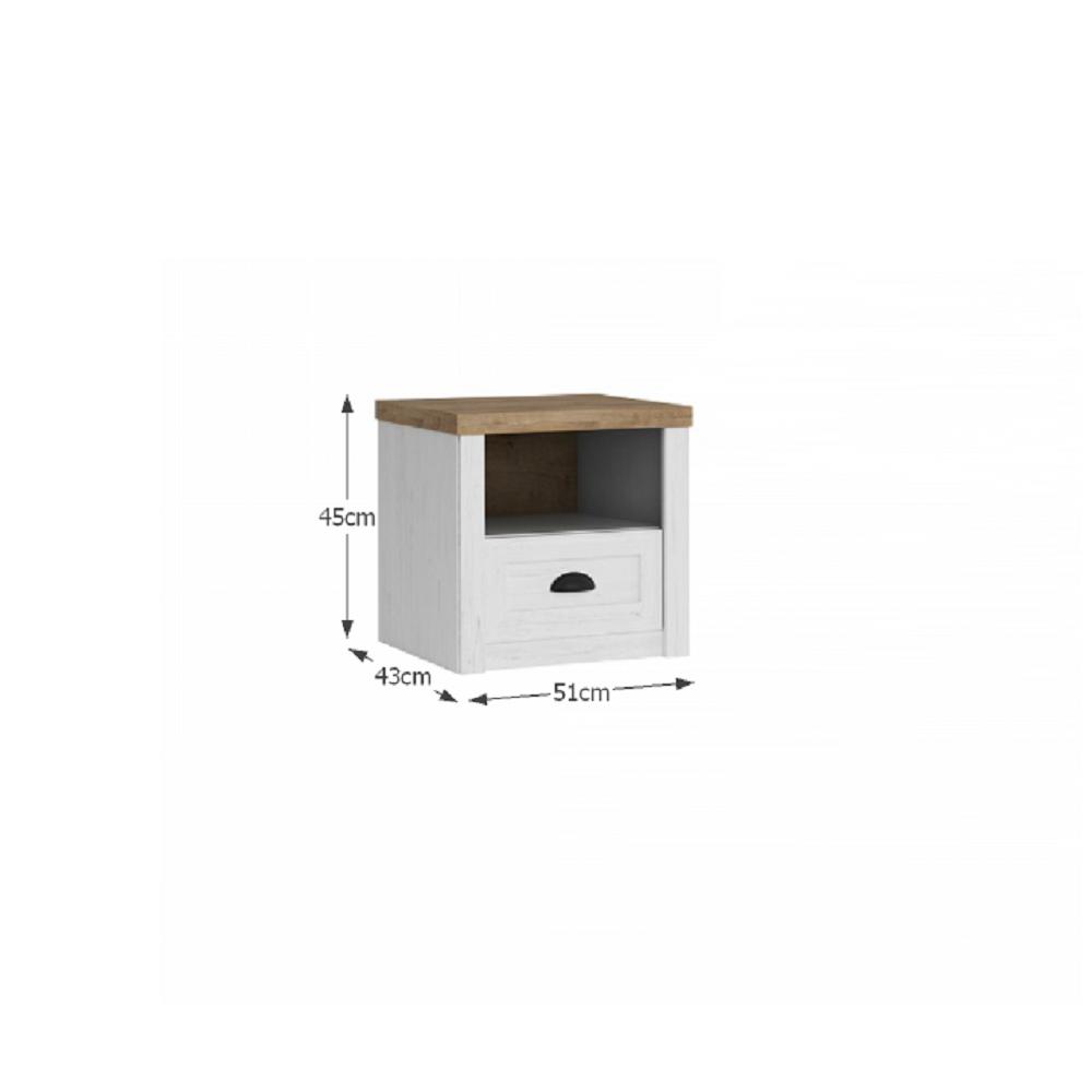 Ansamblu dormitor modern, pin Andersen/stejar lefkas, PROVANCE
