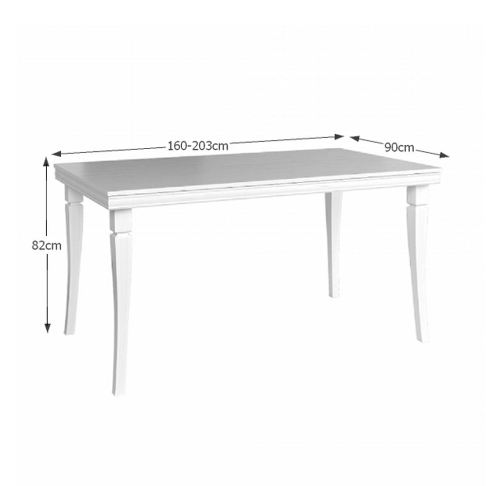 Étkezőasztal, meghosszabbítható, fenyő andersen, KORA