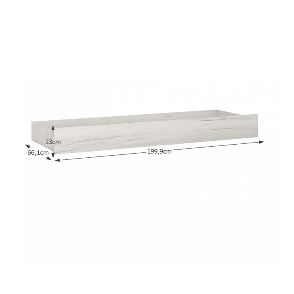 Ágy alatti tárolórész Typ 96, fehér craft, Angel