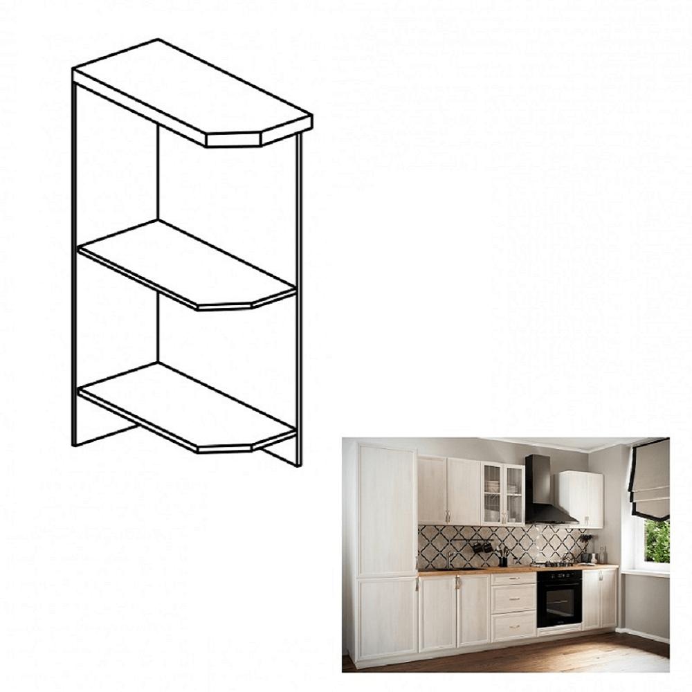 Spodní otevřená skříňka D25PZ, levá, bíla, SICILIA, TEMPO KONDELA