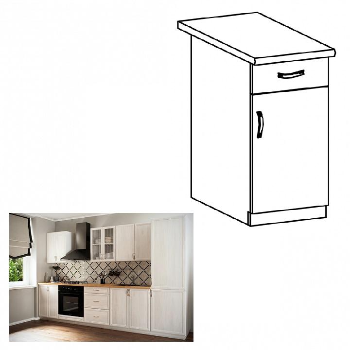 Spodná skrinka D40S1 so šuplíkom, pravá, biela/sosna Andersen, SICILIA