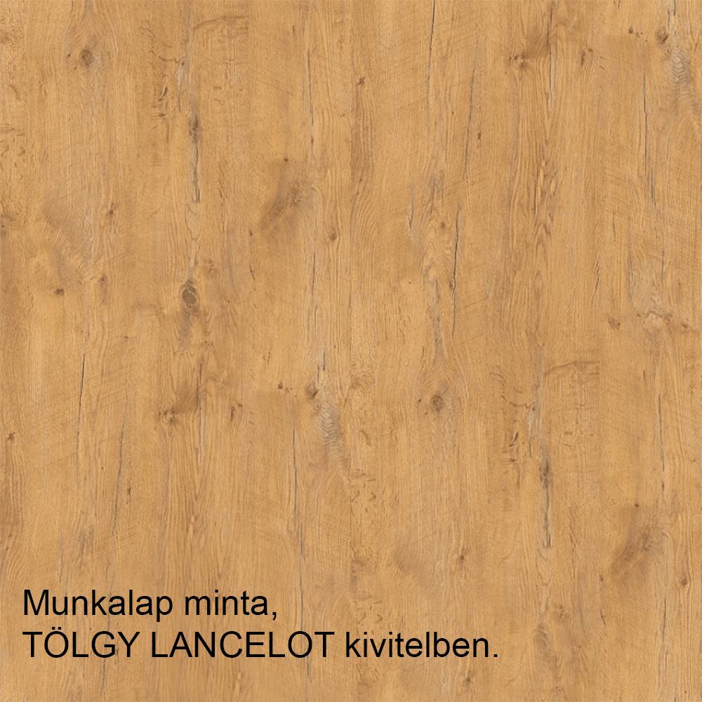SICILIA D30 balos alsó konyha szekrény ajtóval, szín: fehér / fenyő andersen