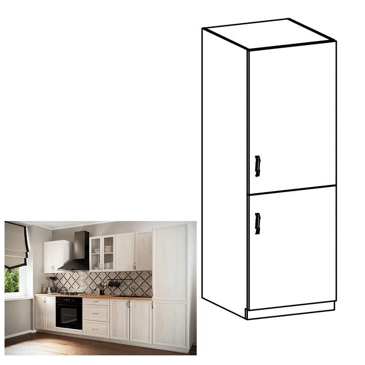 Skříňka na vestavěnou lednici D60ZL, pravá, bíla/sosna Andersen, SICILIA, TEMPO KONDELA