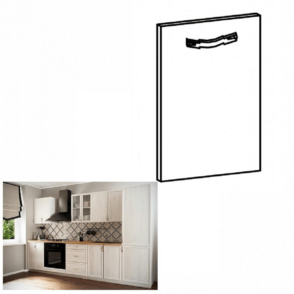 Dvierka na vstavanú umývačku riadu, 59,6x71,3, sosna Andersen, SICILIA