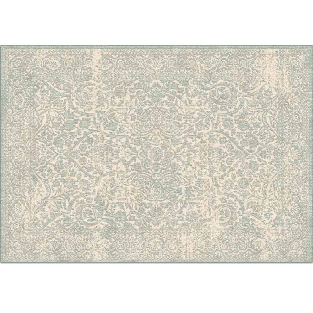 Koberec, krémová/sivý vzor, 67x105, ARAGORN