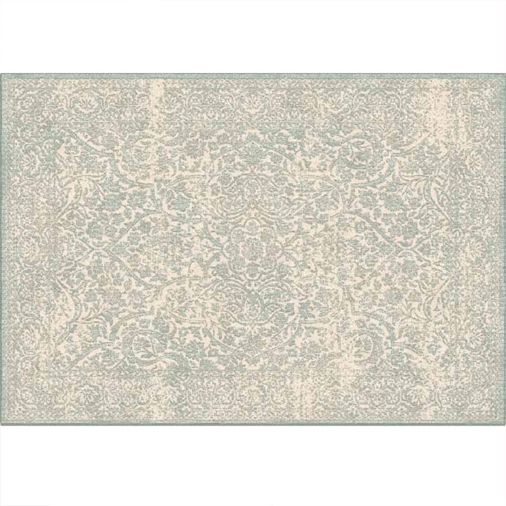 Koberec, krémový / šedý vzor, 140x200, ARAGORN