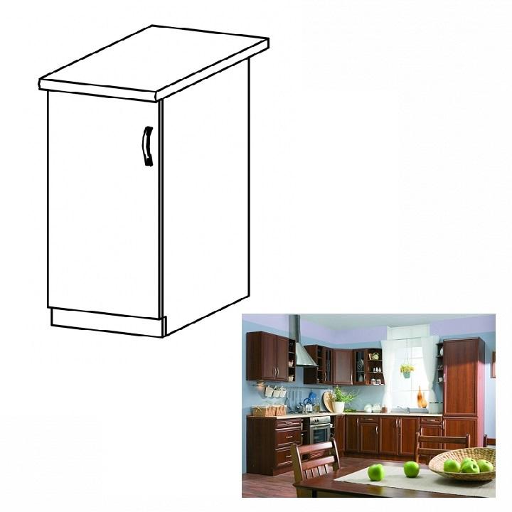 Balos alsó konyha szekrény ajtóval, dió Milano, SICILIA D30