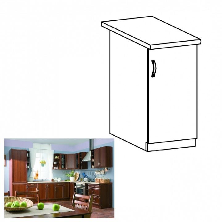 Jobbos alsó konyhaszekrény ajtóval, dió Milano, SICILIA D40