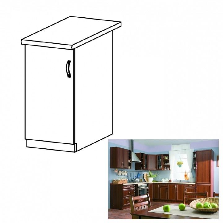 Balos alsó konyhaszekrény ajtóval, dió Milano, SICILIA D40