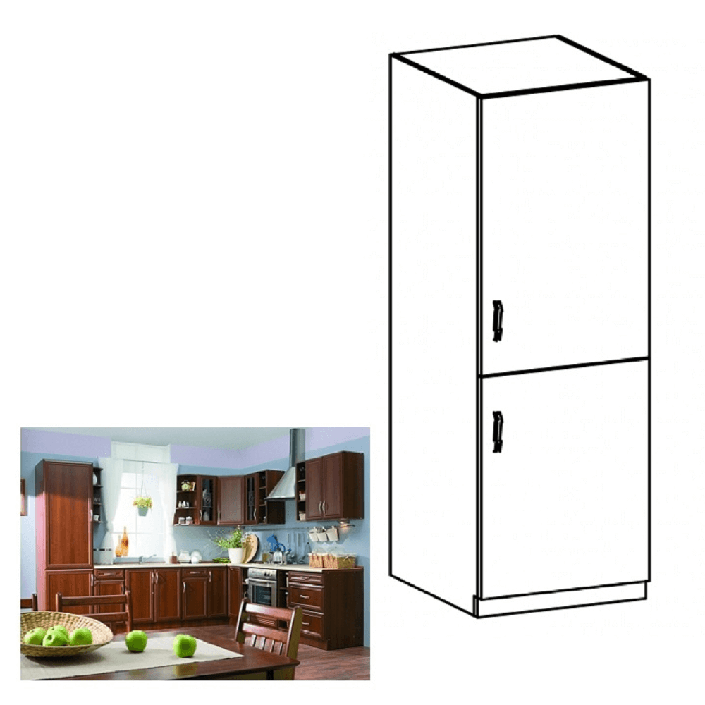 Hűtő beépítő szekrény D60ZL, jobbos, dió Milano, SICILIA