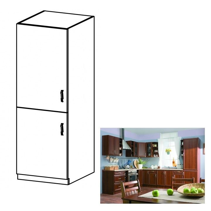 Konyhaszekrény beépített  hűtőszekrényhez, balos, diófa Milano, SICILIA D60ZL