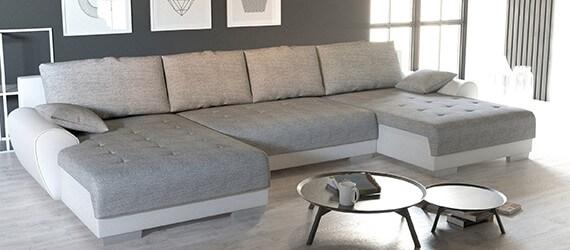 U alakú kanapék - Piros