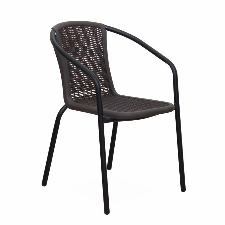 Egymásra rakható szék, sötétbarna, VARDA