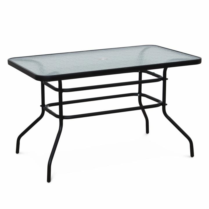 DEMAT Kerti étkezőasztal, szín: fekete