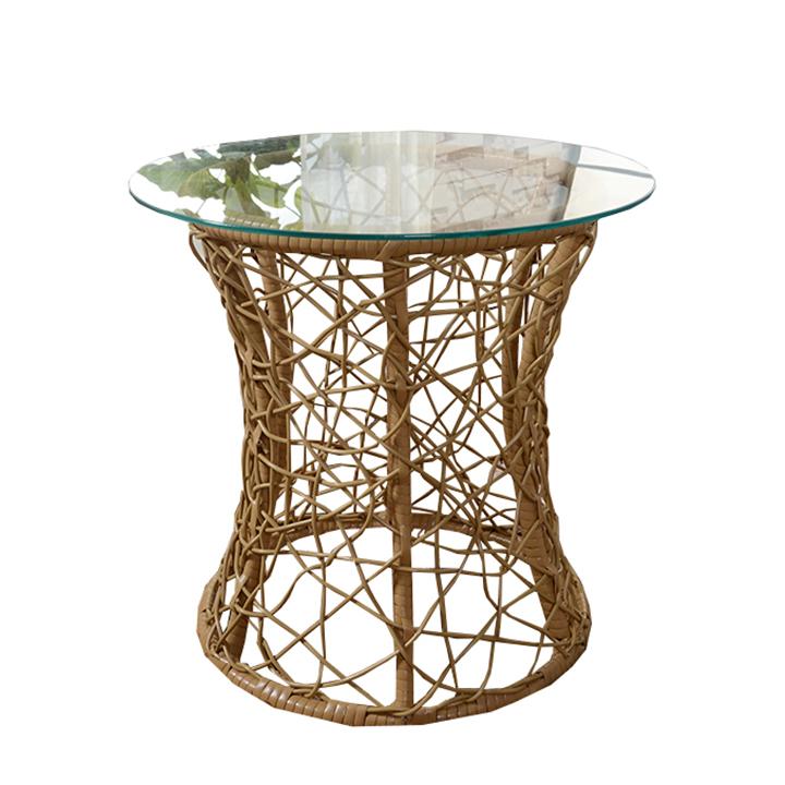 Príručný stolík, béžová, SALMAR