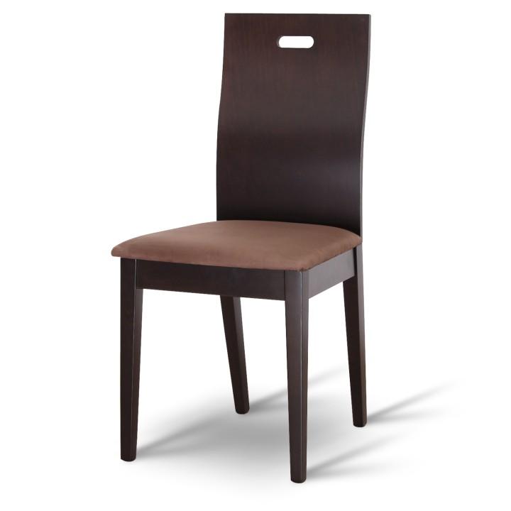 Étkező szék bükk tömörfából, wenge/sötétbarna szövet, ABRIL