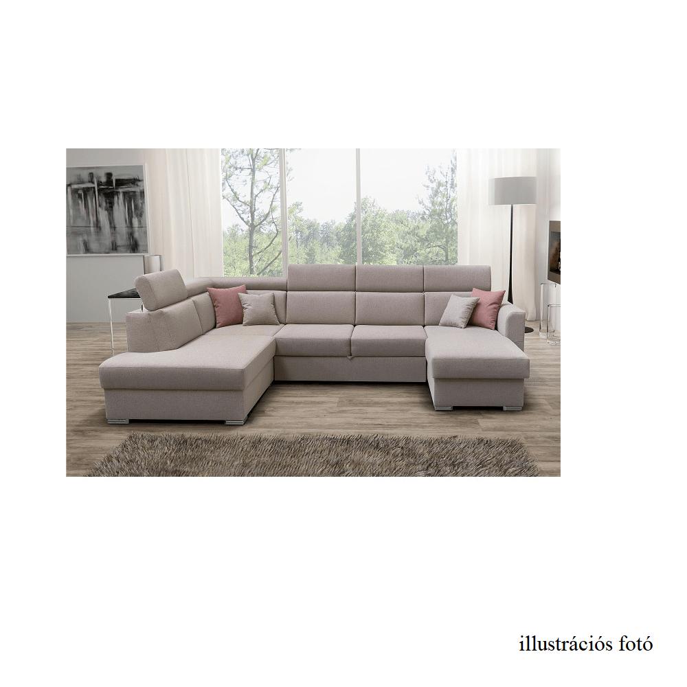 Luxus ülőgarnitúra, balos kivitelben, bézs/téglaszín, MARIETA U
