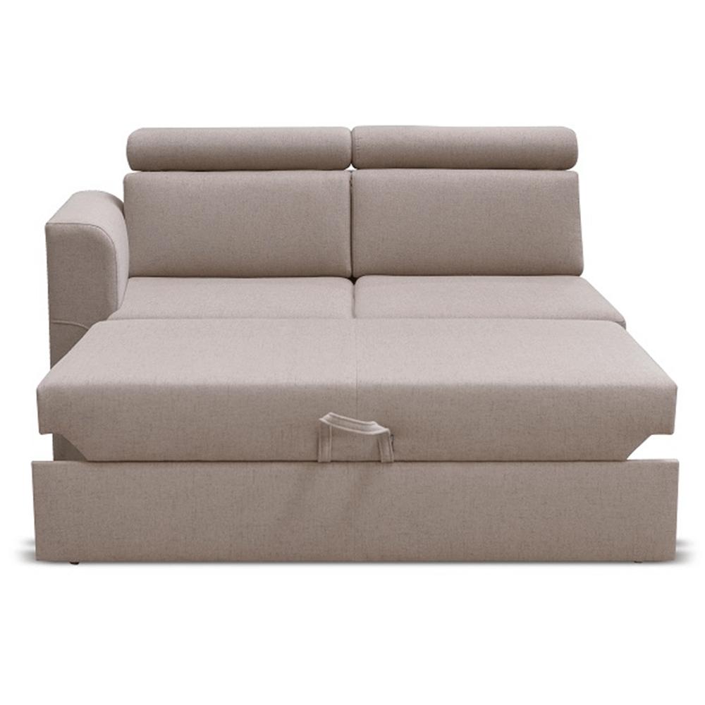 Otoman 2 1B ZF na objednávku k luxusnej sedacej súprave, béžová, ľavý, MARIETA