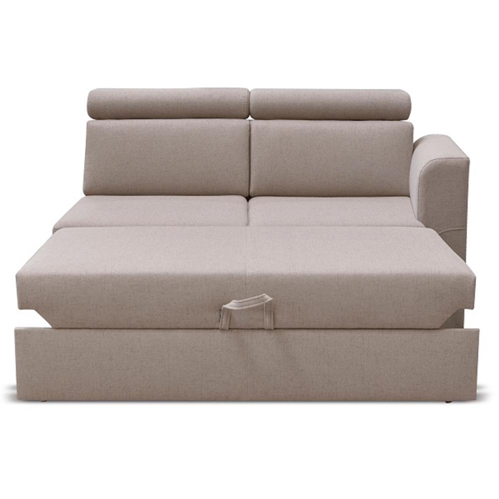 Otoman 2 1B ZF na objednávku k luxusnej sedacej súprave, béžová, pravý, MARIETA
