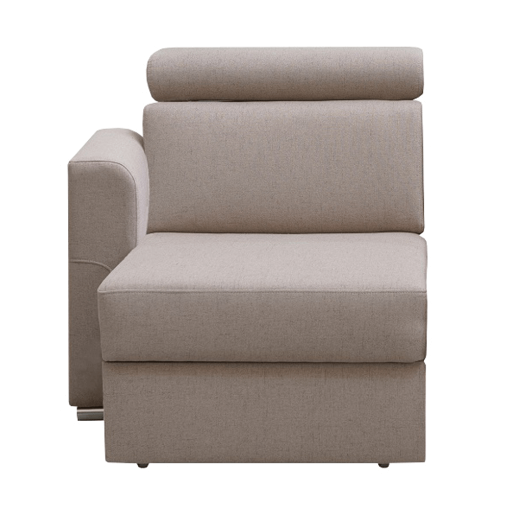 Otoman OTT 1B ZP na objednávku k luxusnej sedacej súprave, béžová, ľavý, MARIETA