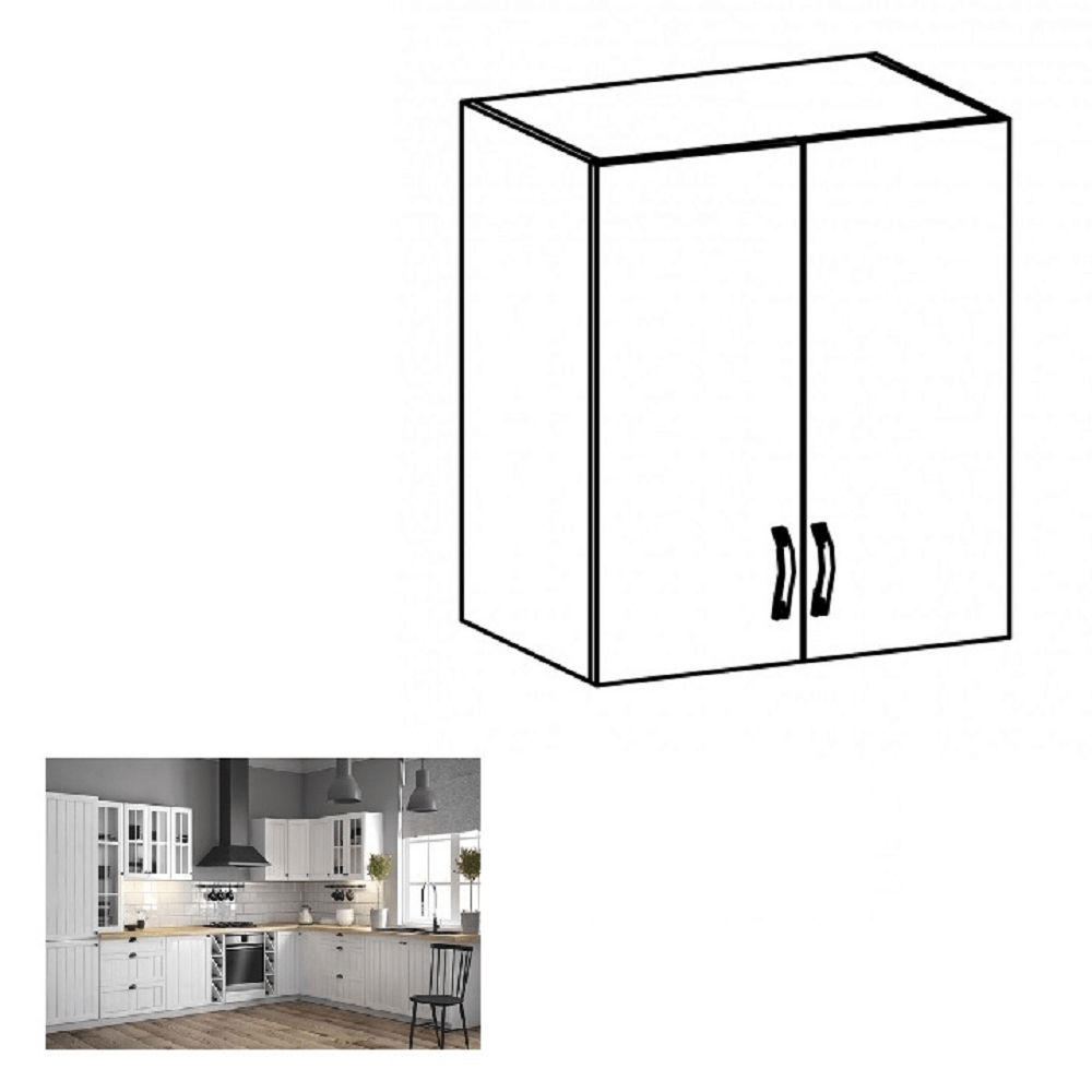 Horná skrinka G60, biela/sosna andersen, PROVANCE