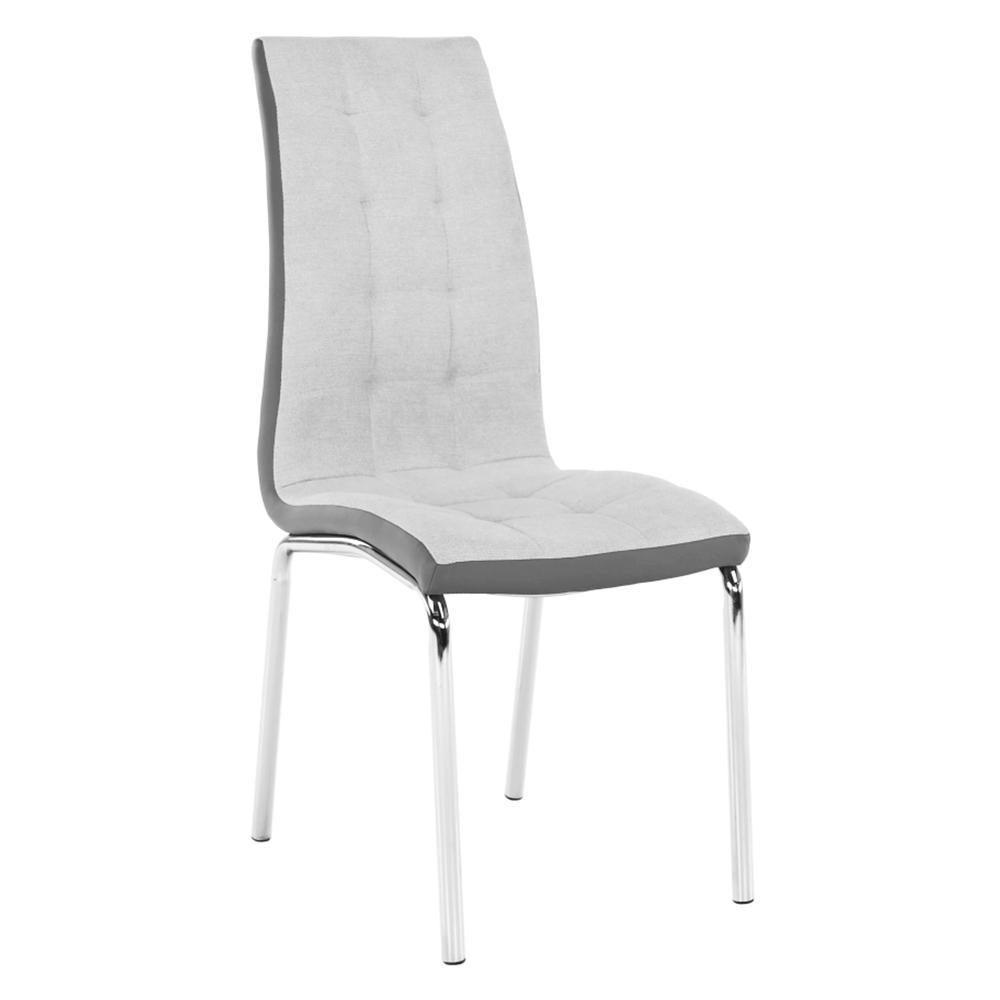 Jedálenská stolička, sivá/chróm, GERDA NEW