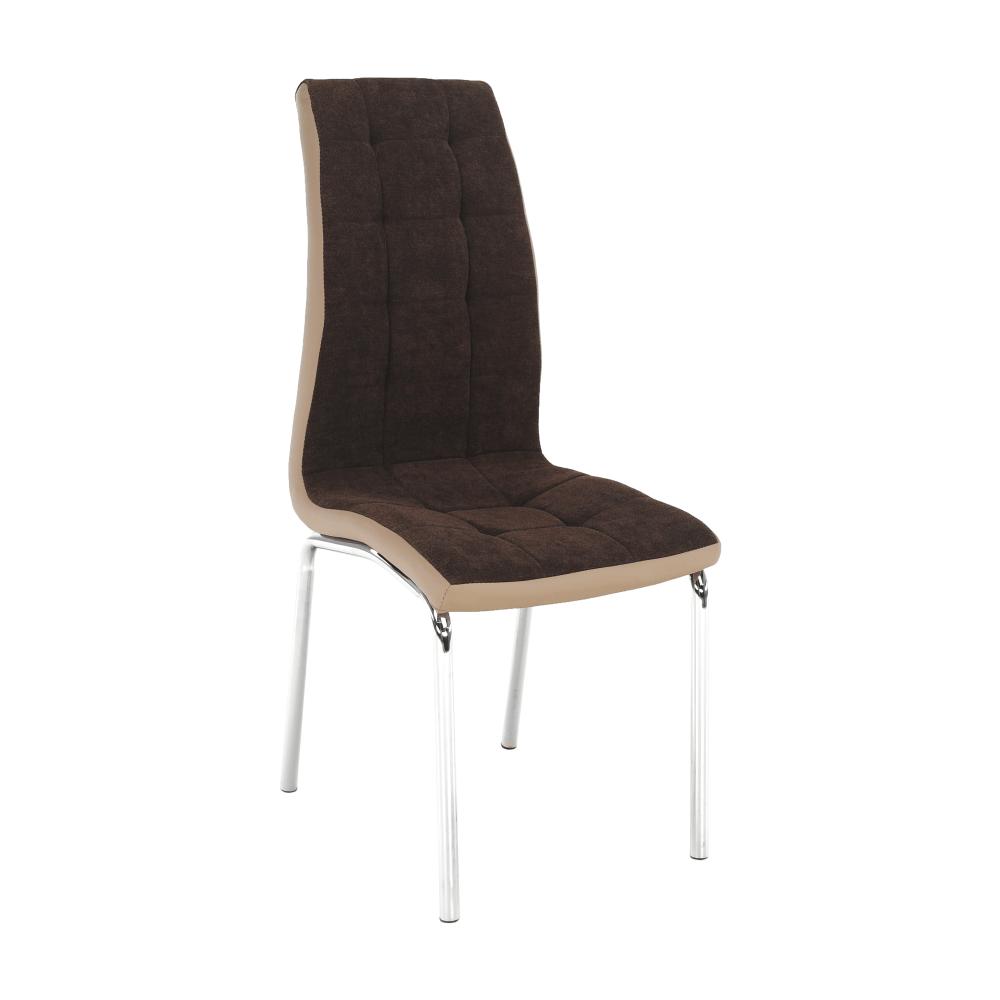 Jídelní židle, hnědá / béžová / chrom, GERDA NEW, TEMPO KONDELA