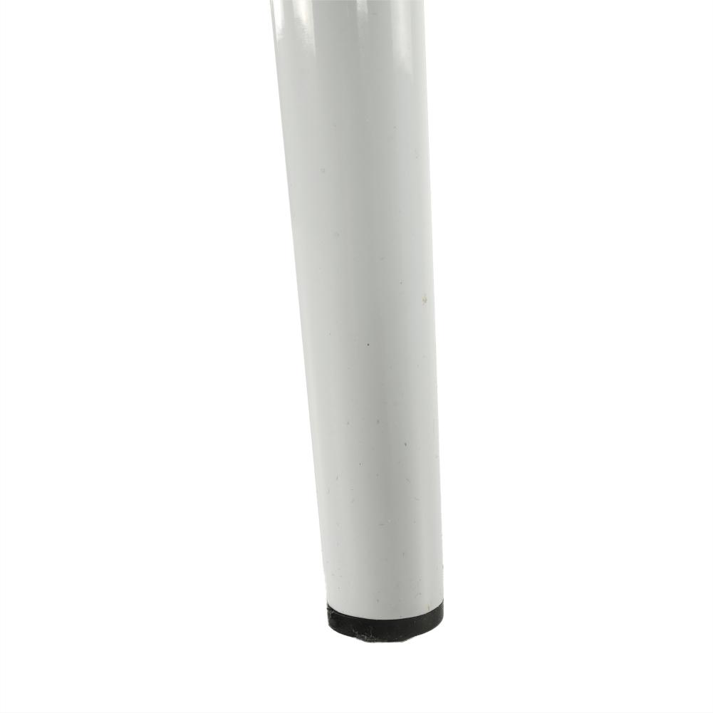 Stolička, svetlosivá látka/biely kov, COLETA NOVA