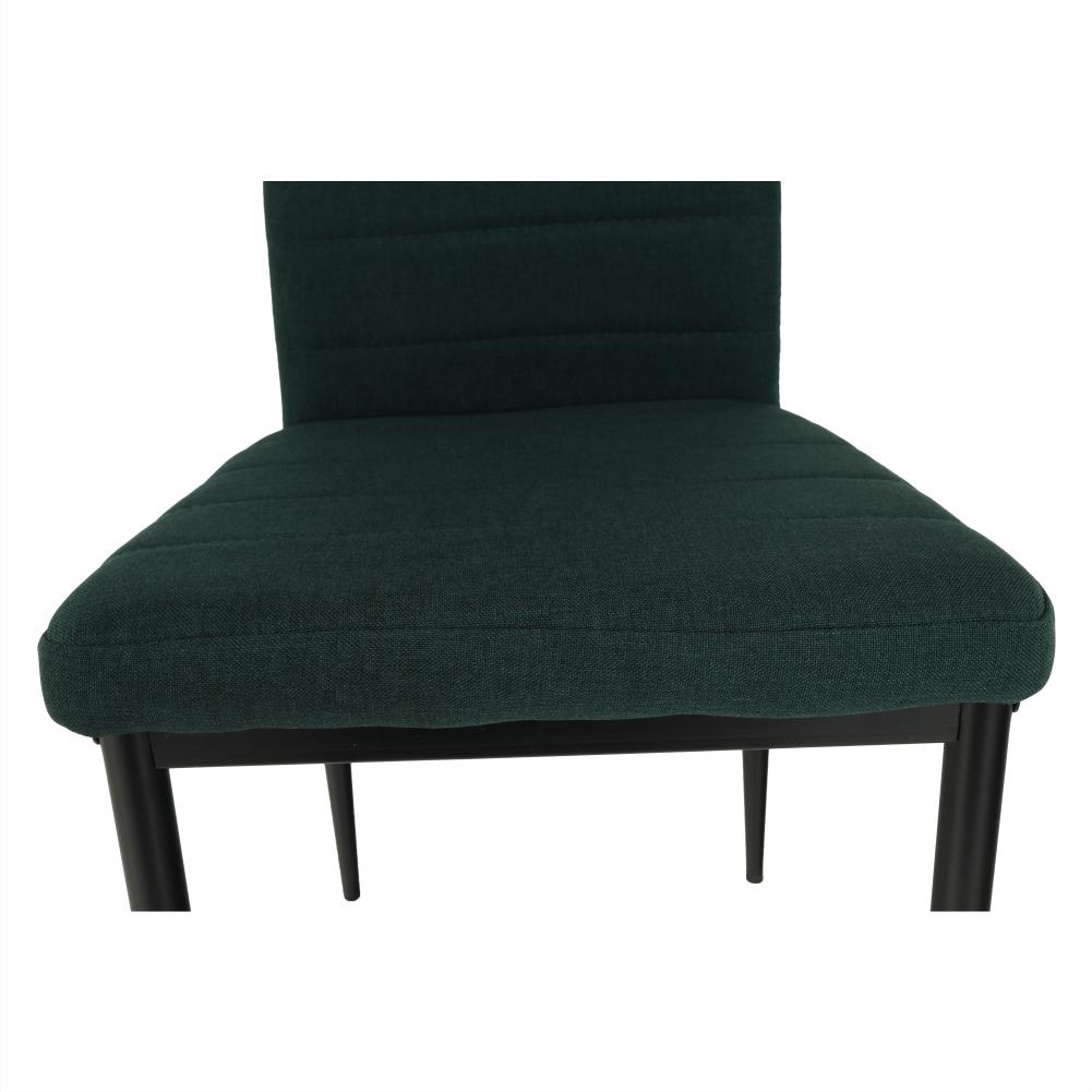 Szék, smaragd anyag/fekete fém, COLETA NOVA
