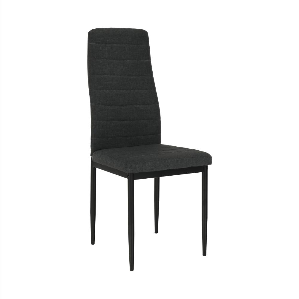 Stolička, tmavosivá látka/čierny kov, COLETA NOVA